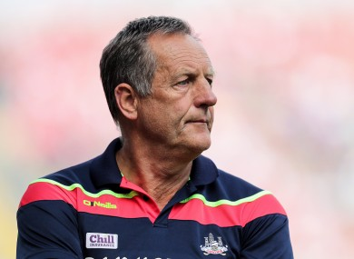John Meyler watched his side go down to Kilkenny yesterday.