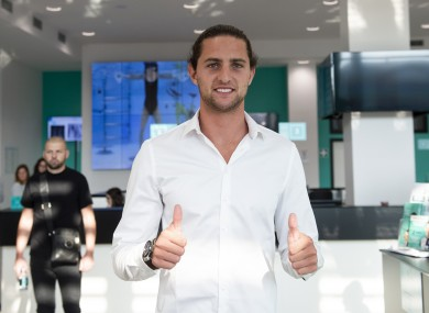 Adrien Rabiot pictured ahead of his medical with Juventus.