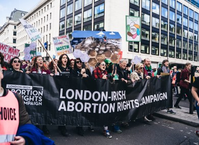 LIARC campaigners march in London.