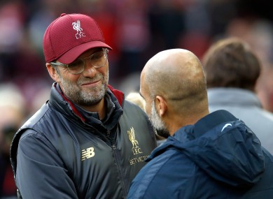 Klopp and Guardiola guided their sides to success last season.