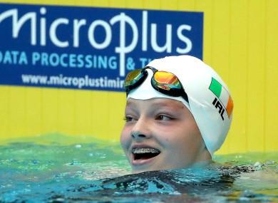 Molly Mayne celebrates winning bronze.
