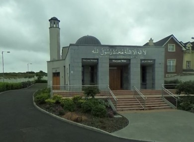 The mosque near Galway city was vandalised overnight