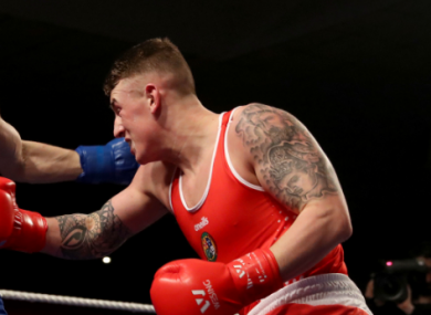 Sheehy in action in the  National Stadium, Dublin in February.