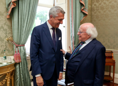Grandi yesterday during his meeting with President Higgins.