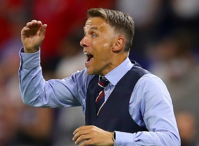 England manager Phil Neville.