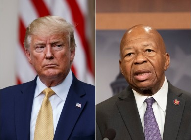 US President Donald Trump and Democratic Representative Elijah Cummings