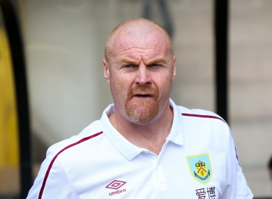 Burnley manager Sean Dyche [file pic].
