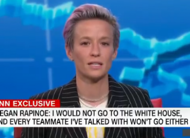 Rapinoe: US co-captain has over 150 international caps.