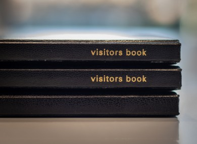 Visitor books will be returned to heritage sites.