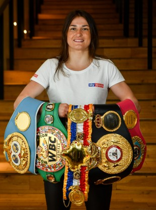 All the belts: Katie Taylor.