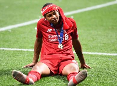 Liverpool's Rhian Brewster.