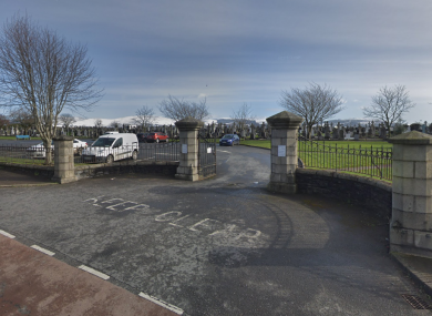 Entrance to Dowdallshill grave yard in Dundalk.