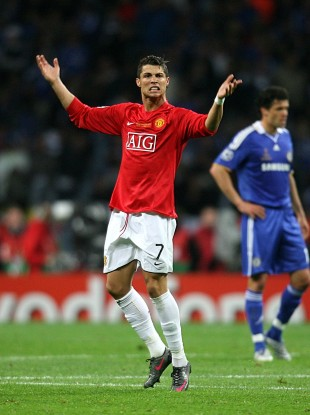 Ronaldo won three Premier League titles and the Champions League at Old Trafford.