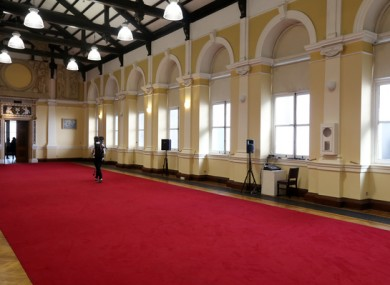 The Ceramics Room, which has housed the Seanad while Leinster House has been undergoing refurbishment.