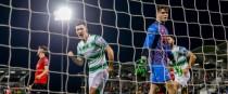 Shamrock Rovers' Aaron Greene celebrates scoring their second goal.