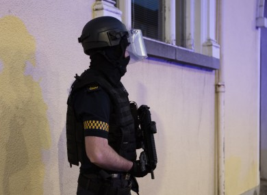 A member of the Garda Armed Support Unit.