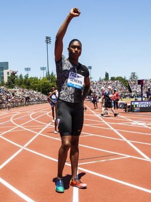 Caster Semenya competing at the Nike Prefontaine Classic in June.