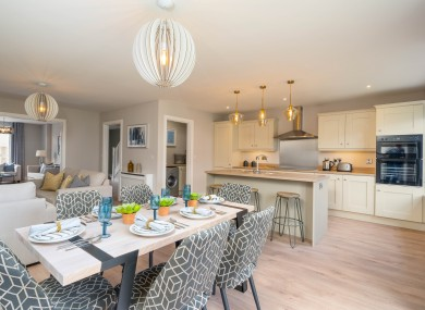 Showhome kitchen at Glenveagh Homes' Cluain Adain in Navan