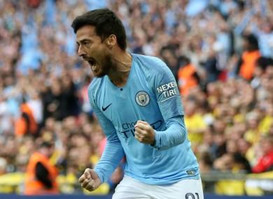 Manchester City midfielder David Silva.