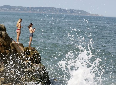 The Forty Foot earlier in the summer. (Don't do this until tomorrow.)