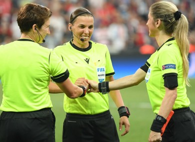 The team of officials for the UEFA Super Cup.