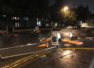 The scene at Govan Road in Glasgow after the disruption last night.