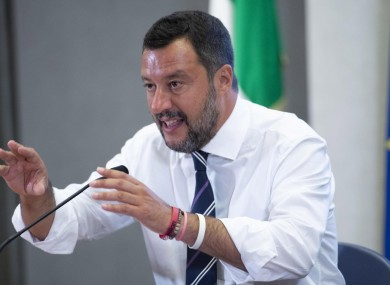 Matteo Salvini is the Federal Secretary of the Northern League party.