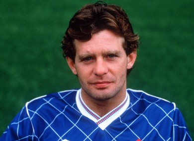 John Coady pictured as a Chelsea player in 1987.