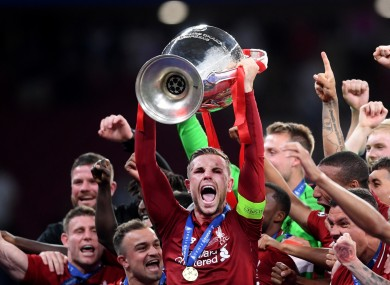Last year's Champions League winners, Liverpool.