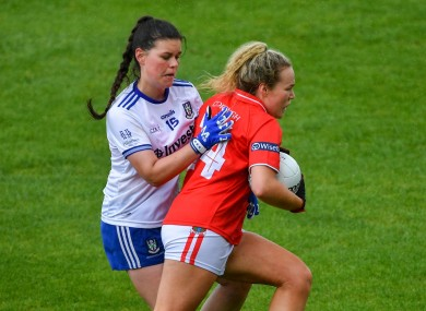 Katie Quirke in action against Monaghan's Macayla Grennan.