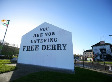File photo. The Free Derry sign in the city's Bogside area.