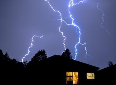 Lightning struck across the country last night. (File)