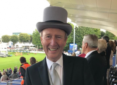 Transport and Sport Minister Shane Ross at the RDS Horse Show yesterday.