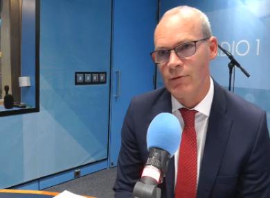 Tánaiste and Foreign Affairs Minister Simon Coveney on RTÉ radio this morning.