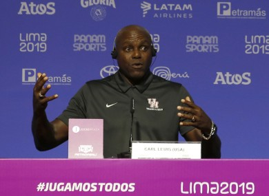 Carl Lewis says 'we have to fight for people's rights.'