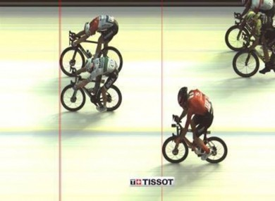 Today's photo finish which saw Bennett lose out.