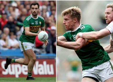 Jack Sherwood and Tommy Walsh have returned to make their mark for Kerry.