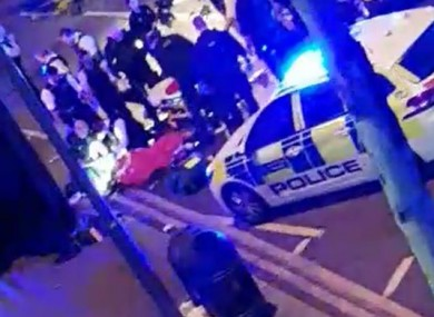 A screengrab from a video taken at the scene in Leyton, east London.