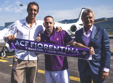 Fiorentina shared this photo of the Frenchman on social media this morning.