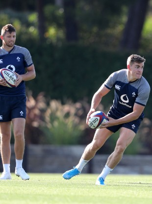 Byrne and Ringrose at training in Portugal.