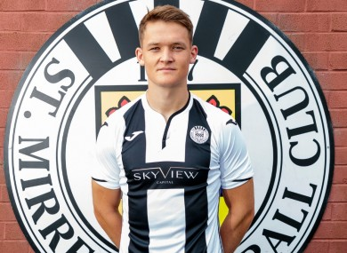 McLoughlin will stay with St Mirren until January.