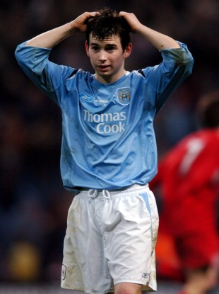 Manchester City's Karl Moore pictured during the 2006 FA Youth Cup final against Liverpool.