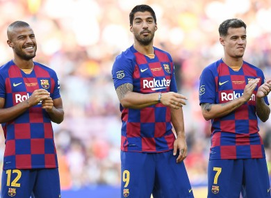 Barcelona's opening clash with Athletic Bilbao will be shown on ITV.