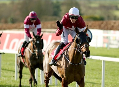 Tiger Roll and Keith Donoghue racing in Navan earlier this year.