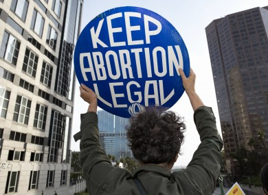 An activist during a 'Keep Abortion Legal' protest (file photo)