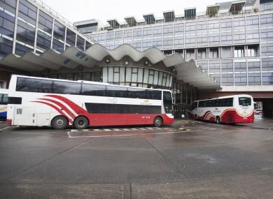 Bus Éireann buses at Busáras