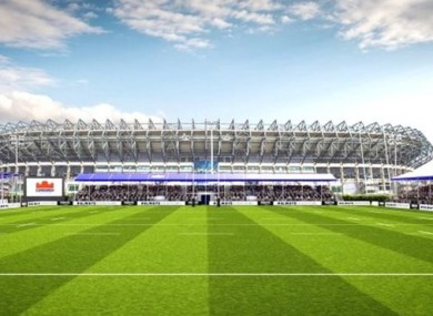 An artist's impression of the venue.
