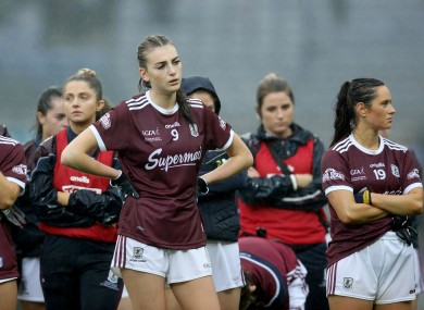 Galway's Aine McDonagh dejected afterwards.