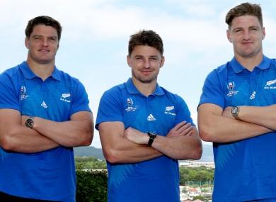 New Zealand internationals Scott, Beauden and Jordie Barrett.