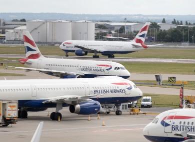 British Airways aircraft at London's Heathrow airport (file photo)